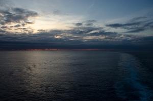 Sunrise as we arrived in Bermuda