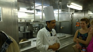 Head pastry chef on the galley tour