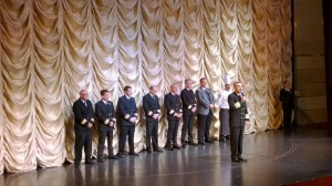 The captain introduces the officers
