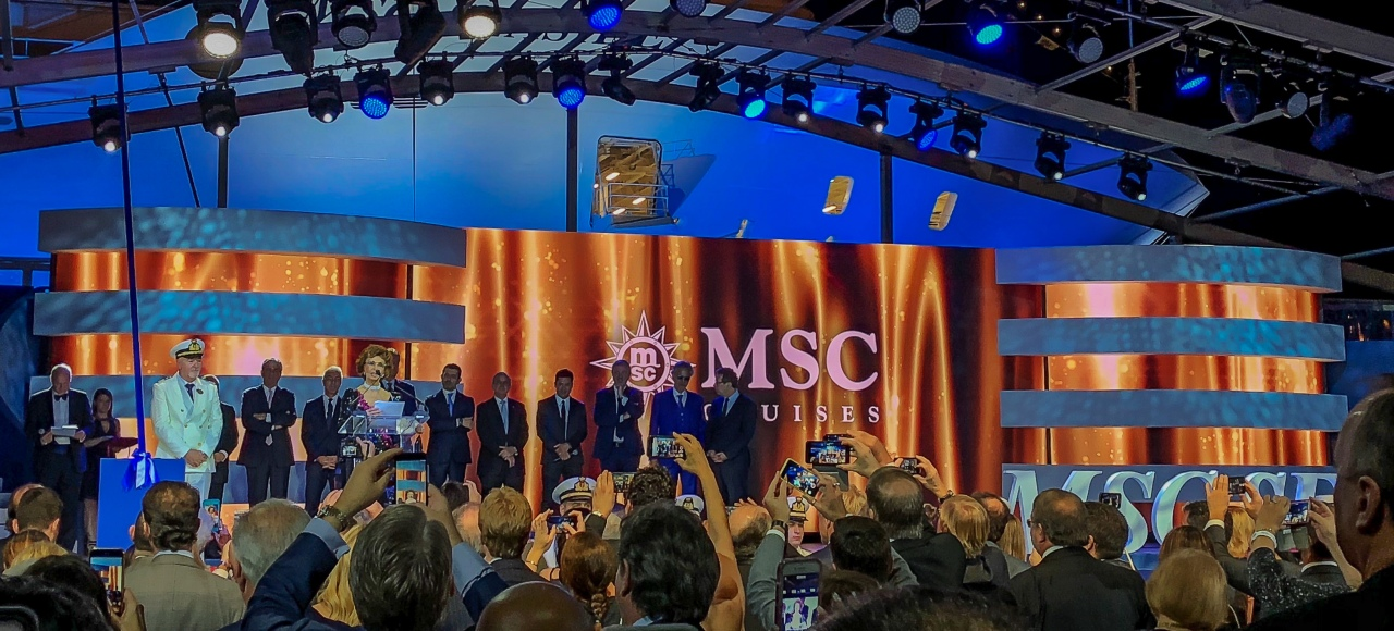 MSC Seaside: The Naming Ceremony!
