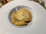 Ricotta-stuffed ravioli